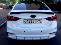 Спойлер на Hyundai Solaris 2