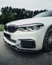 Юбка переднего бампера (Сплиттер) на BMW G30 дорест