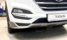 Накладка на передний бампер на Hyundai Tucson